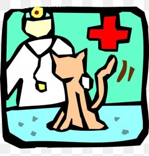 White Veterinarian Green Background - Cat Dog Veterinarian Pet Clip Art PNG