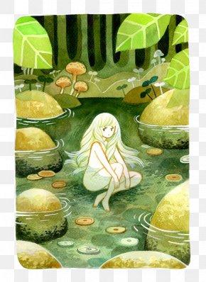 Cartoon Field Pool - DeviantArt Drawing Work Of Art Illustration PNG