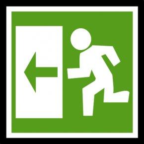 Exit Sign Clipart - Emergency Exit Exit Sign Fire Escape Clip Art PNG