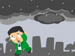 Urban Rainstorm Flood Control - Rain Thunderstorm Cloudburst Cartoon Overcast PNG