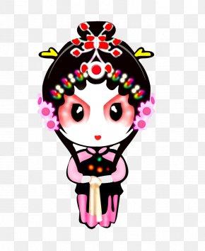 Peking Opera Characters - Peking Opera Qin Xianglian Chinese Opera Cartoon Character PNG