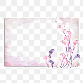 Lily Frame - Watercolor Painting Picture Frames PNG