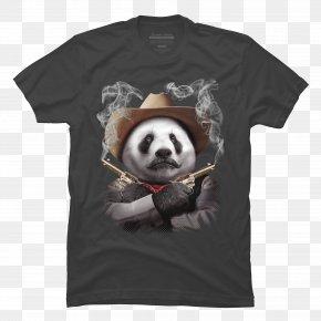 Hand-painted Panda - Giant Panda T-shirt Bear Red Panda Cuteness PNG