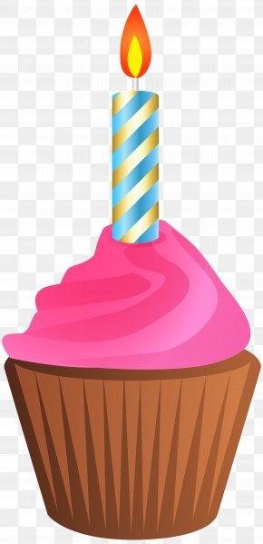 Muffin - Birthday Cake Muffin Cupcake Clip Art PNG
