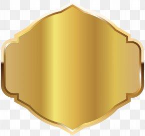 Golden Label Template Clipart Image - Label Clip Art PNG