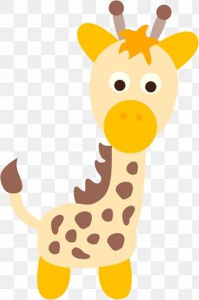 Giraffe - Northern Giraffe Child Clip Art PNG