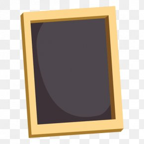 Black Frame - Picture Frames Yellow Rectangle Font PNG