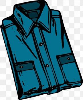 Blue Cartoon Men's Shirts - T-shirt Polo Shirt Free Content Clip Art PNG