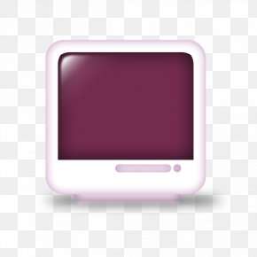 Purple Creative TV Model - Electronics Multimedia Rectangle PNG