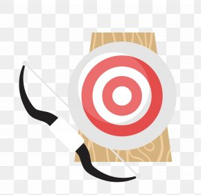 Vector Bow And Arrow Bull's-eye Material - Grey Shooting Target Clip Art PNG