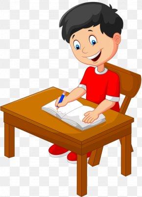Serious Homework Kids - Cartoon Stock Photography Writing Illustration PNG