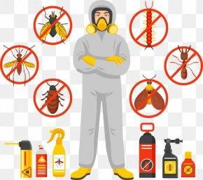 Vector Pest Control Man - Cockroach Pest Control Exterminator PNG