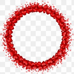 Heart Round Border Transparent Clip Art - Heart Clip Art PNG