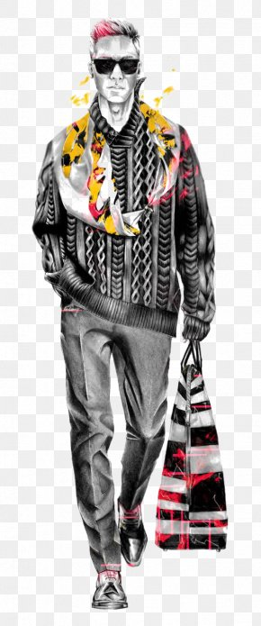 Stylish Man - Oscar De La Renta Fashion Illustration Fashion Design PNG