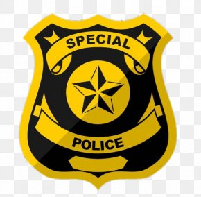 Yellow Shield - Police Officer Badge Special Police Police Academy PNG