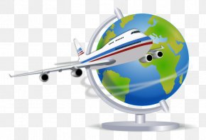 Travel File - Globe Air Travel Clip Art PNG