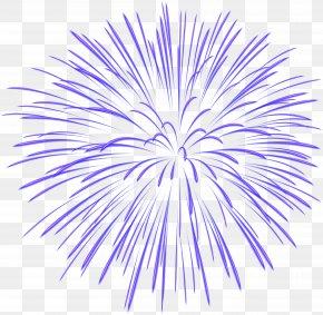 Blue Firework Transparent Image - Fireworks Clip Art PNG