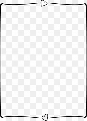Heart Page Border - Black And White Angle Point Pattern PNG