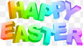 Happy Easter Text - Logo Brand Font Product Green PNG