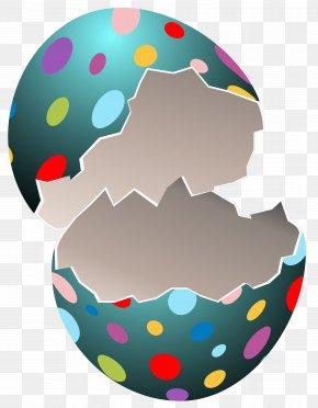 Broken Easter Egg Transparent Clip Art Image - Easter Bunny Easter Egg Clip Art PNG