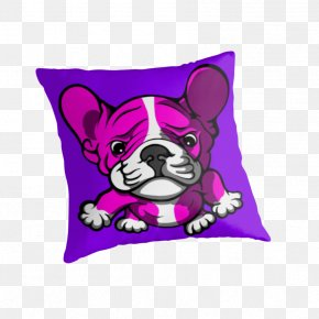 Pillow And Blanket Cartoon - French Bulldog Dog Breed Throw Pillows PNG