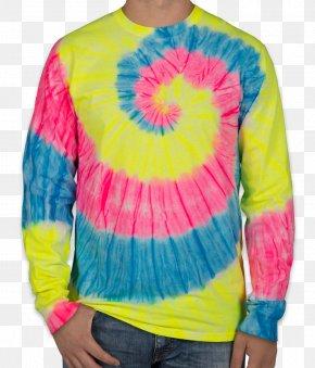 T-shirt - Long-sleeved T-shirt Long-sleeved T-shirt Tie-dye Clothing PNG