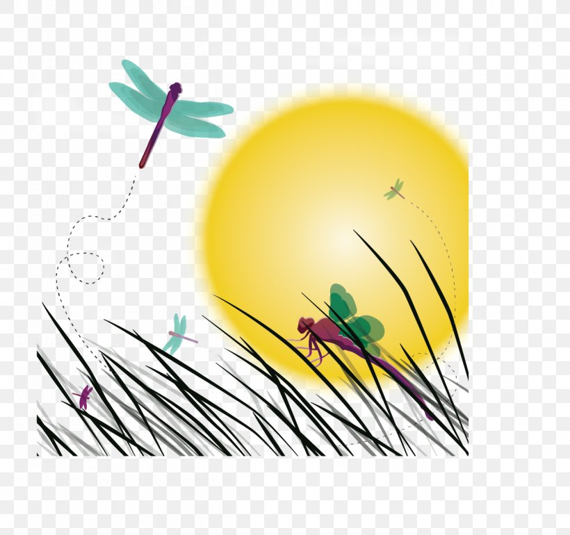 Insect Dragonfly Sunset Illustration Png 1248x1173px Insect Computer Graphics Dragonfly Landscape Shape Download Free