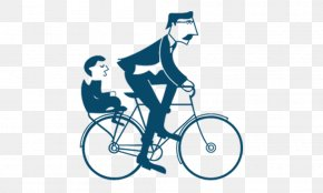 Father And Son Bicycle - Fathers Day Gift Happiness PNG