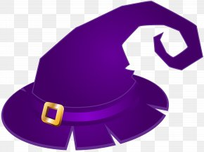Purple Witch Hat Transparent Clip Art Image - Witch Hat Clip Art PNG