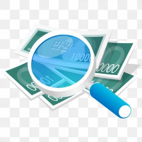 Magnifying Glass Vector Material Banknote - China Car Vehicle Insurance Finance Money PNG