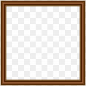 Brown Gold Border Frame Transparent Image - Square Picture Frame Area Board Game Pattern PNG