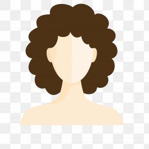 Brown Black Lady Hair Wig - Designer Wig Service PNG