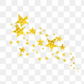 Star - Five-pointed Star Gold Yellow PNG