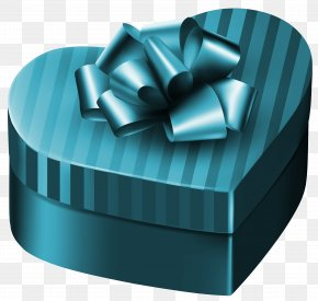 Luxury Gift Box Heart Clipart Image - Gift Box Purple Clip Art PNG