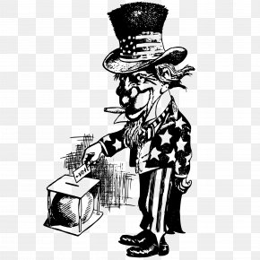 Vector Uncle Sam's Vote Illustration - Medical Cannabis Joint Smoking Hash Oil PNG
