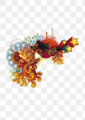 Corner Flower Decoration Stars - Collage Download PNG