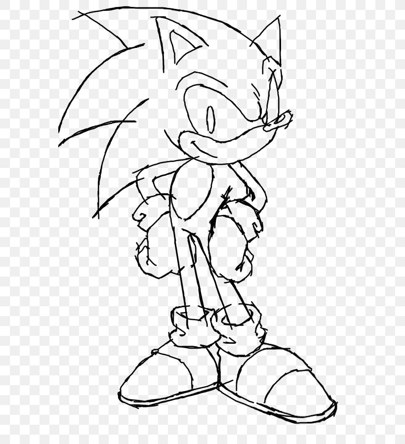Line Art Sonic The Hedgehog Sonic Heroes Shadow The Hedgehog Drawing Png 584x899px Line Art Arm