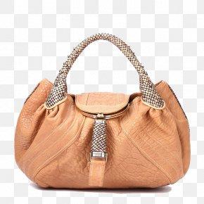 Fendi Light Khaki Leather Shoulder Bag - Light Shoulder Euclidean Vector PNG