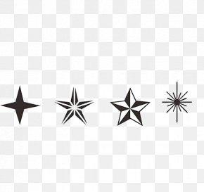 Black Cross Star Five-pointed Star Material - Pentagram Cross Star Polygon PNG