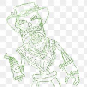 Flower Sketches - The Gunstringer Drawing Character Line Art Sketch PNG