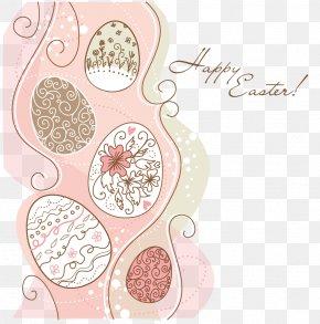 Easter Egg Border - Easter Bunny Easter Egg Pattern PNG