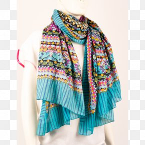 Shawl - Neck Scarf Outerwear Stole Turquoise PNG