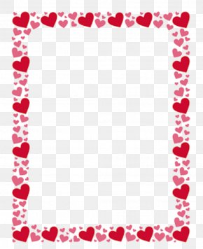 Heart - Borders And Frames Clip Art Right Border Of Heart Image PNG