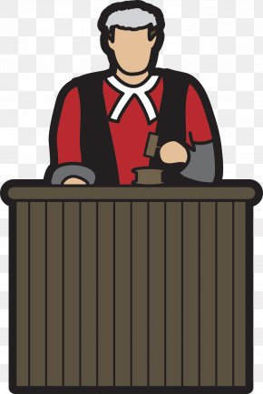 Cartoon Judge - Judge Court Cartoon Clip Art PNG