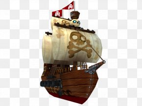 Pirate Ship - Low Poly Ship Piracy Animation 3D Computer Graphics PNG