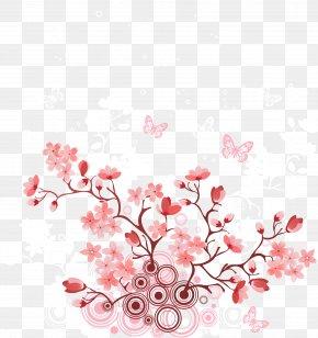 Romantic Cherry Tree - Cherry Blossom PNG