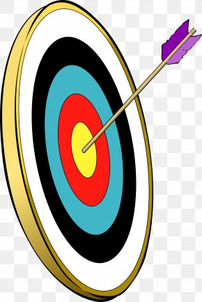 A Shot On Target Color - Target Archery Bow And Arrow Clip Art PNG