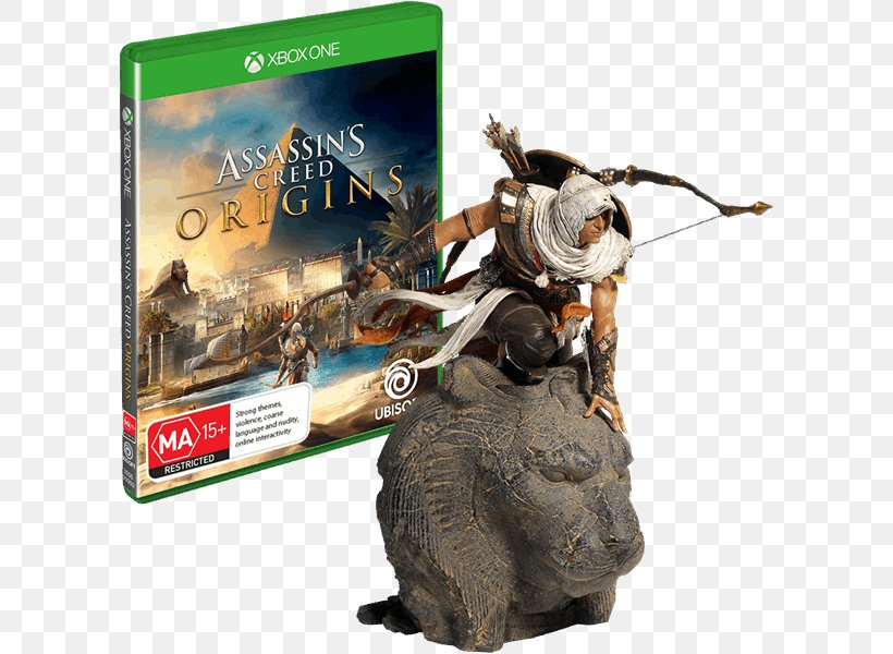 Assassin's Creed: Origins Assassin's Creed III: Liberation Xbox One Video Games, PNG, 600x600px, Xbox One, Action Figure, Eb Games Australia, Figurine, Playstation 4 Download Free