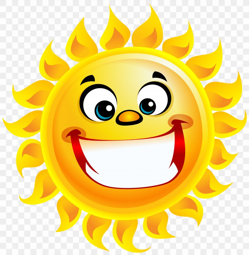 Smiling Sun Smile Clip Art, PNG, 7801x8000px, Smile, Clip Art, Drawing, Emoticon, Happiness Download Free