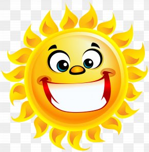 Smiling Sun Transparent Clip Art Image - Smiling Sun Smile Clip Art PNG